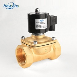 2W Brass Normally Closed Solenoid Valve