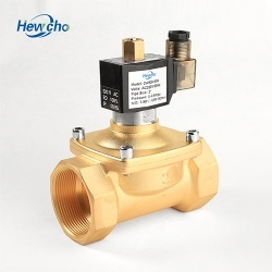2WH Brass Normally Open Solenoid Valve